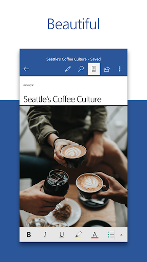Microsoft Word: Write, Edit & Share Docs on the Go 16.0.13029.20182 Screenshots 1
