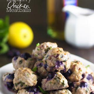 Blueberry Chicken Meatballs