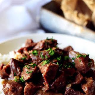 Instant Pot (Pressure Cooker) Beef Tips.