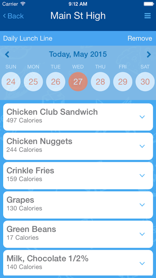 NutriCafe- screenshot