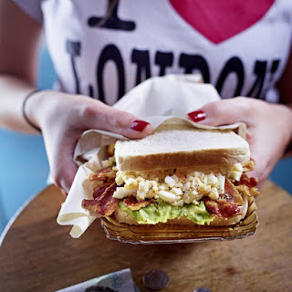 Avocado Bacon and Egg Sandwich