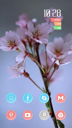 粉色春天鲜花主题