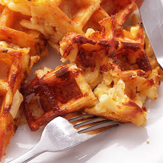 Macaroni and Cheese Waffles.