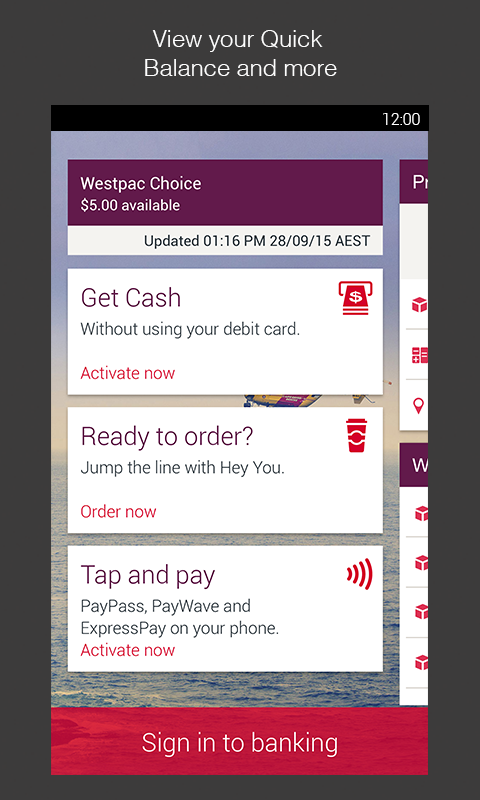 how to turn on figerprint for westpak bank app
