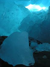 Photo: Inside the glacier