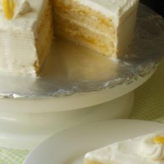 Lemon Cake with Lemon Filling and Lemon Butter Frosting.