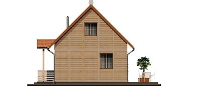 D80 - Filip wersja drewniana - Elewacja lewa