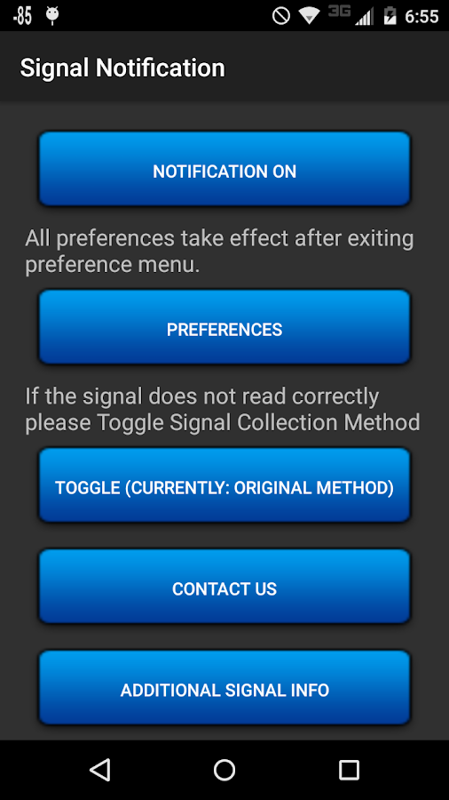 Signal Notification- screenshot