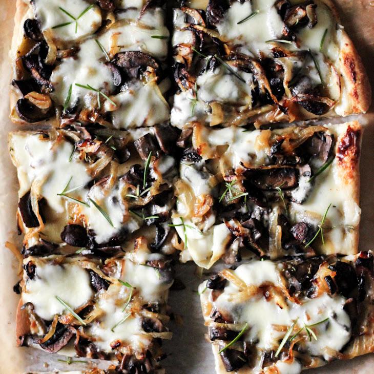Caramelized Onions, Mushrooms + Rosemary Potatoes with Garlic Cream Sauce Recipe