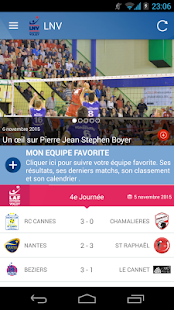 Ligue nationale de volley Capture d'écran