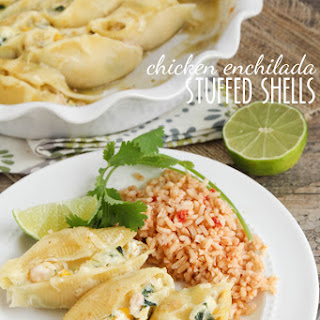Chicken Enchilada Stuffed Shells.
