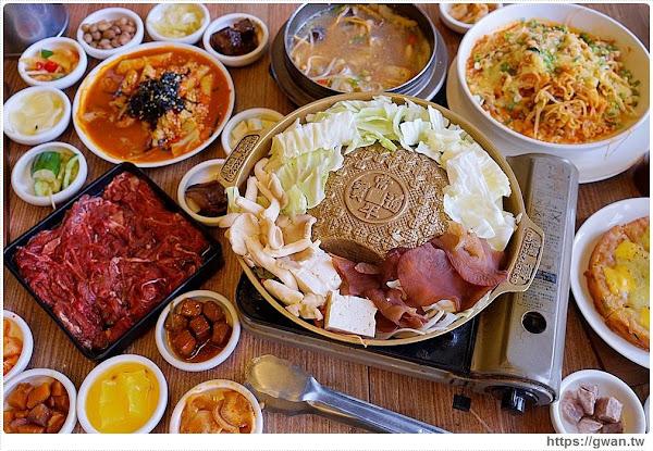 台中韓式料理 | 銅盤烤肉一份不用250元,麥茶隨意喝、還有50道手作小菜免費吃到飽!