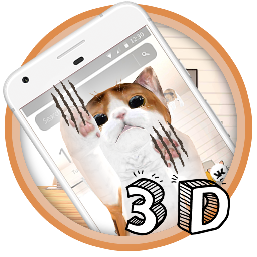 White Cute Cat Theme