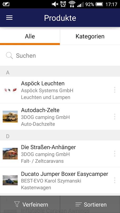Messe Düsseldorf App- screenshot