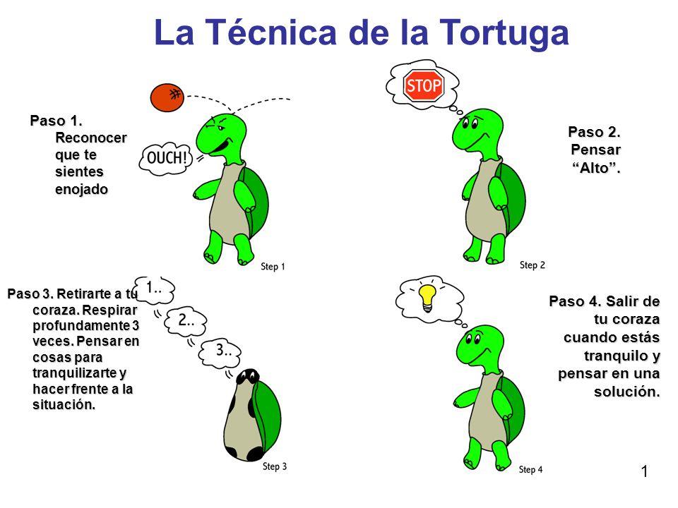 técnica de la tortuga para el autocontrol de los niños