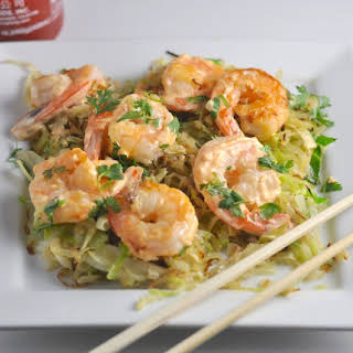 Low Carb Spicy Shrimp with Crispy Cabbage.