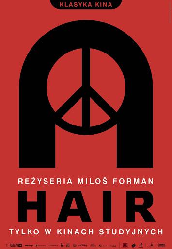 Polski plakat filmu 'Hair'
