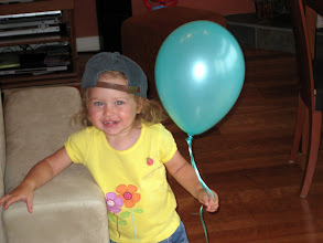 Photo: blue baloon and Mommy's hat
