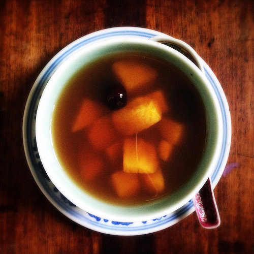 Chinese, yam, Sweet Potato, Ginger, Dessert Soup, recipe, traditional, classic, sweet soup, warming, 番薯, 姜, 糖水