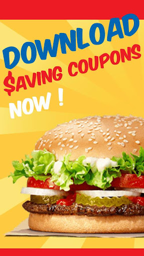 Screenshot for King Fast Food Coupons – Burger king Pizza in United States Play Store