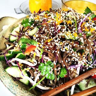 Buckwheat Noodle Salad with Orange Dressing