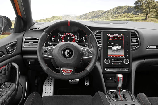 The interior is the same as the GT but with red accents. Picture: RENAULT