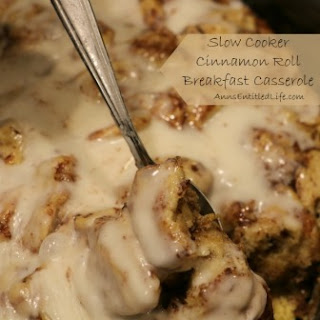 Crock Pot Cinnamon Roll Breakfast Casserole- MONDAYS ARE A CROCK.
