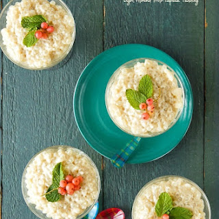 Slow Cooker Light Almond Milk Tapioca Pudding {dairy-free}.