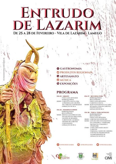 Programa – Entrudo de Lazarim – 25 a 28 de Fevereiro de 2017 - Lamego