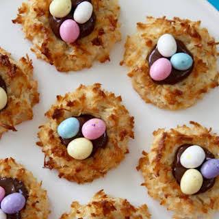 Coconut Macaroon Easter Egg Cookies.