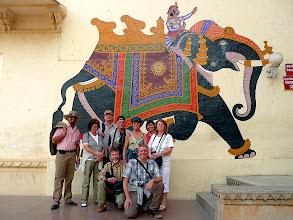 Photo: Der Elefant heißt uns wieder mal willkommen.