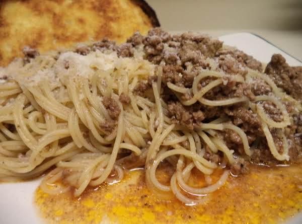 Spaghetti With Beef Sauce