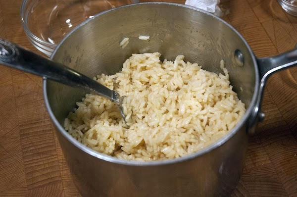 Fluff the rice with a fork and serve as a side with your favorite...