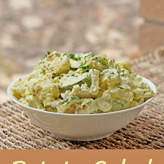 Idaho Home Fry Potato Salad with Poblano Mayonnaise