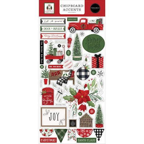 Carta Bella Home For Christmas Chipboard 6X13 - Accents