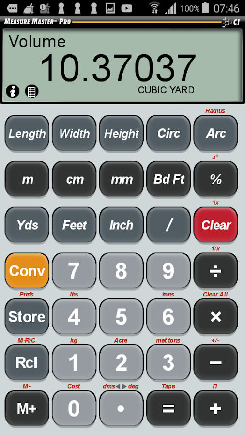 Measure Master Pro Calculator- screenshot