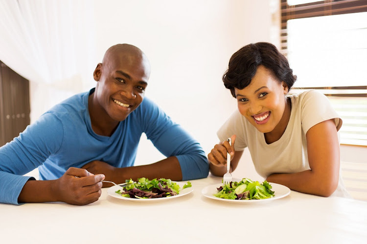Healthy eating: fill up your plate, but with low-calorie food.