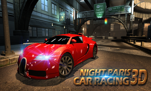 Night Paris Car Racing 3D
