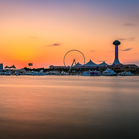 Abudhabi Marina by Rene Timbang - Landscapes Sunsets & Sunrises
