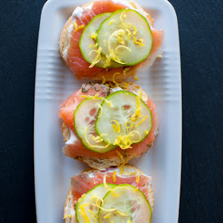 Smoked Salmon Canapes with Easy Lemon Truffle Mayo
