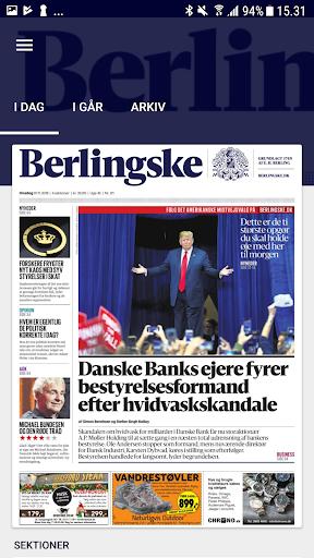 berlingske e-avis screenshot 1