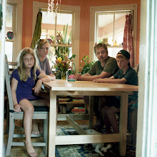 Photo: title: Jay, Allison , Jackson & Bobby Sue Villani, Portland, Maine date: 2011 relationship: friends, art, met through art world Portland years known: 15-20