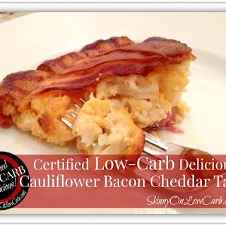 Low-Carb Cauliflower Bacon Cheddar Tart