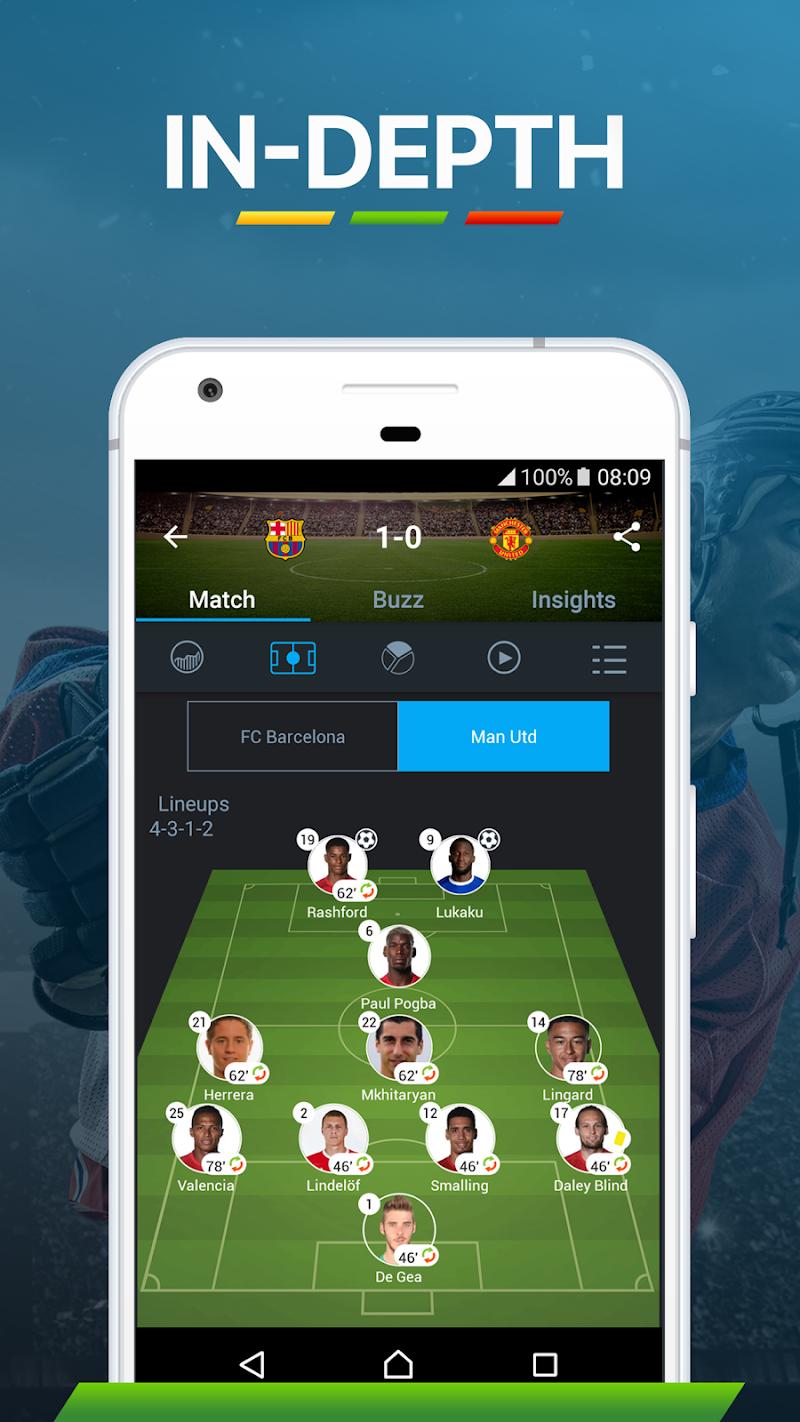 365Scores - Live Sports Score, News & Highlights Screenshot 3