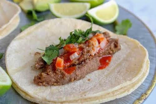 "Street Tacos ""These street tacos are great with rice and beans or..."