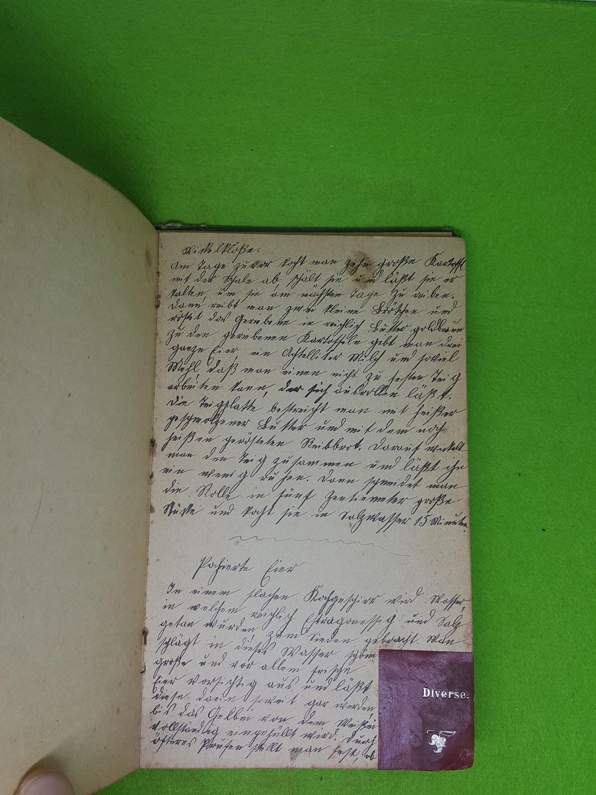 Rezeptbuch von 1907 - Diverse
