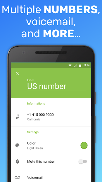 Text Me: Text Free, Call Free, Second Phone Number on Google