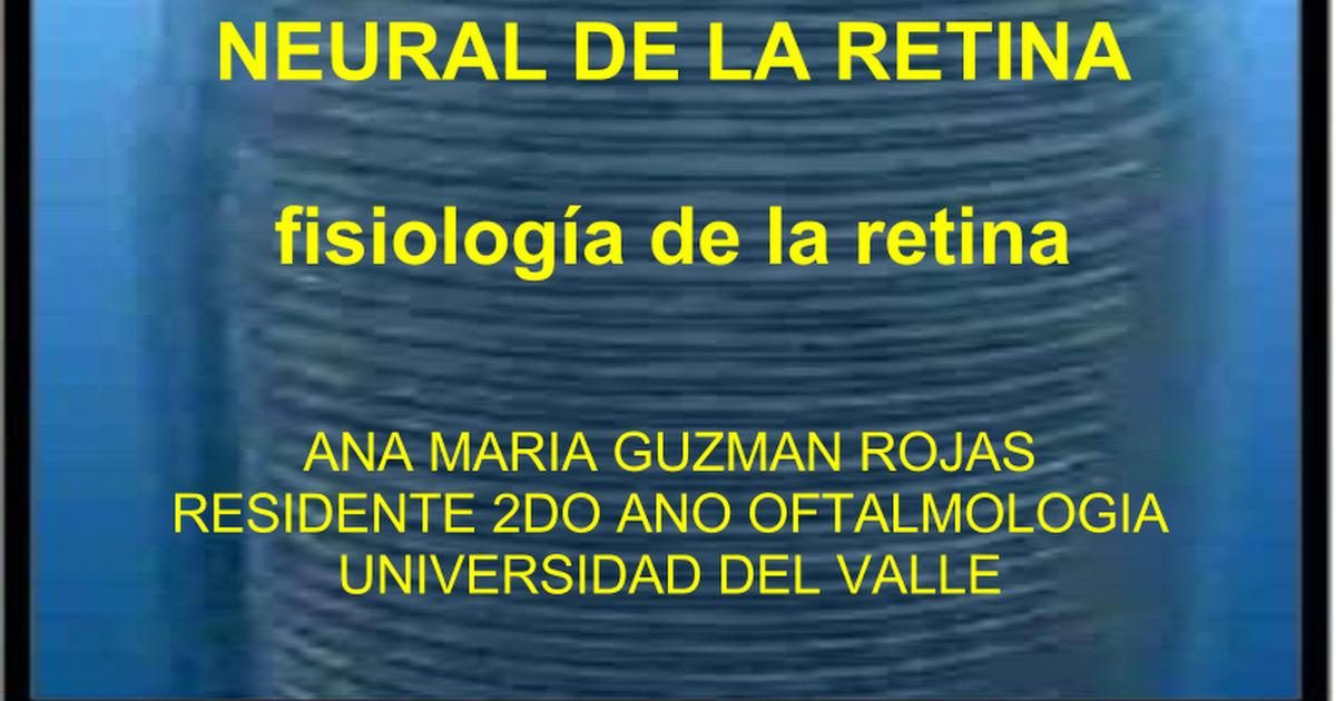 FISIOLOGIA DE LA RETINA - Google Slides