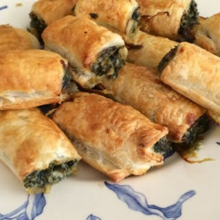 Spinach Rolls with Puff Pastry.