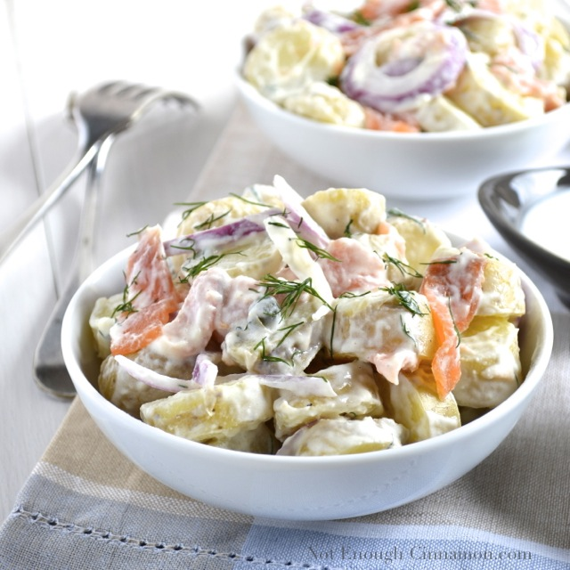 Smoked Salmon Potato Salad with a Creamy Dill Dressing Recipe